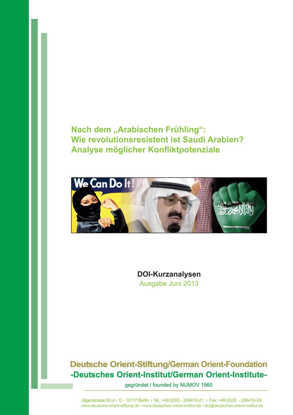 """Featured image for """"Nach dem """"Arabischen Frühling"""": Wie revolutionsresistent ist Saudi Arabien? Analyse möglicher Konfliktpotenziale"""""""