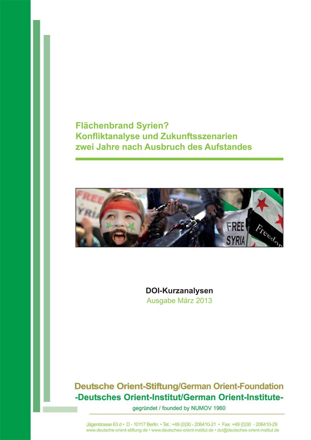 """Featured image for """"Flächenbrand Syrien? Konfliktanalyse und Zukunftsszenarien zwei Jahre nach Ausbruch des Aufstandes"""""""
