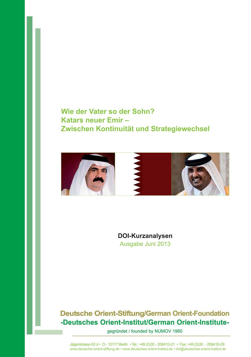 """Featured image for """"Wie der Vater so der Sohn? Katars neuer Emir – Zwischen Kontinuität und Strategiewechsel"""""""