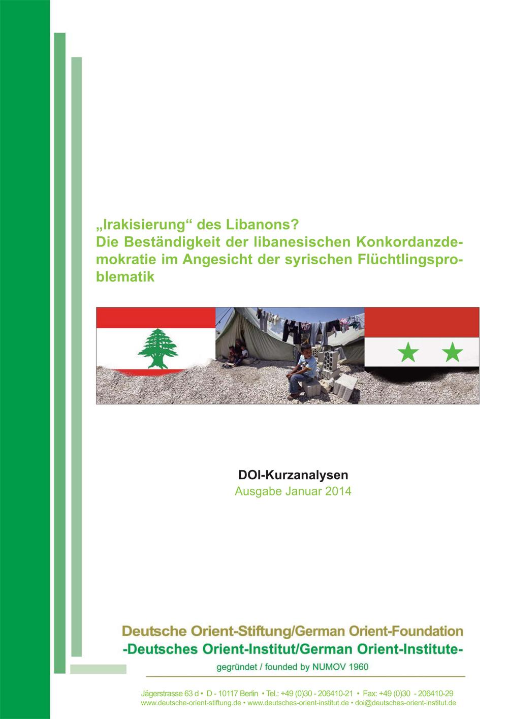 """Featured image for """"""""Irakisierung"""" des Libanons? Die Beständigkeit der libanesischen Konkordanzdemokratie im Angesicht der syrischen Flüchtlingsproblematik"""""""