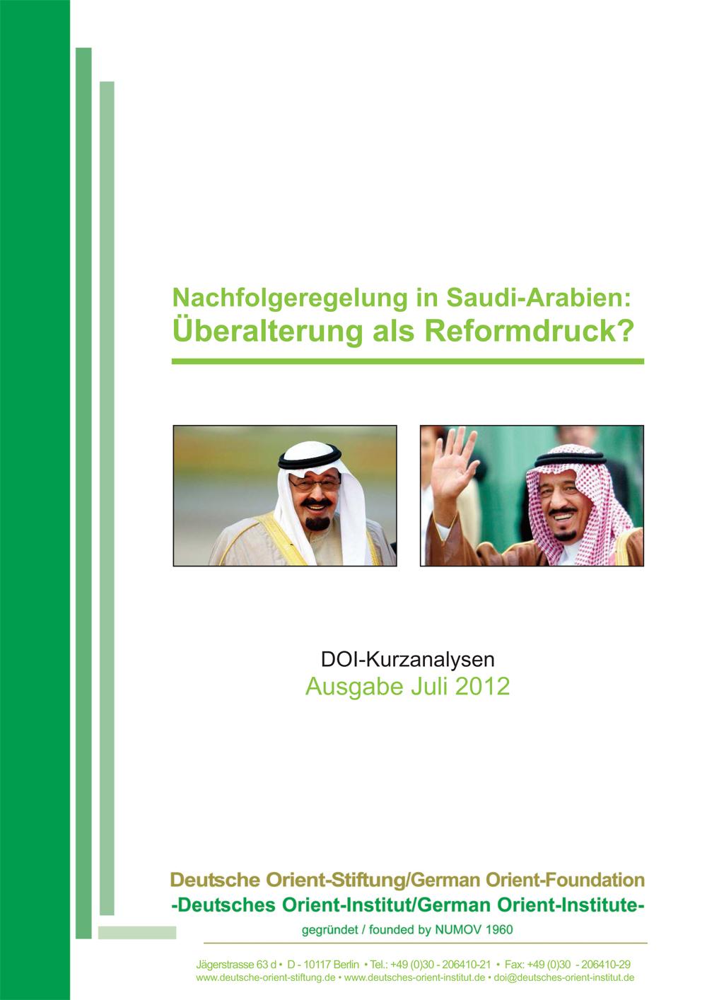 """Featured image for """"Nachfolgerung in Saudi-Arabien: Überalterung als Reformdruck"""""""