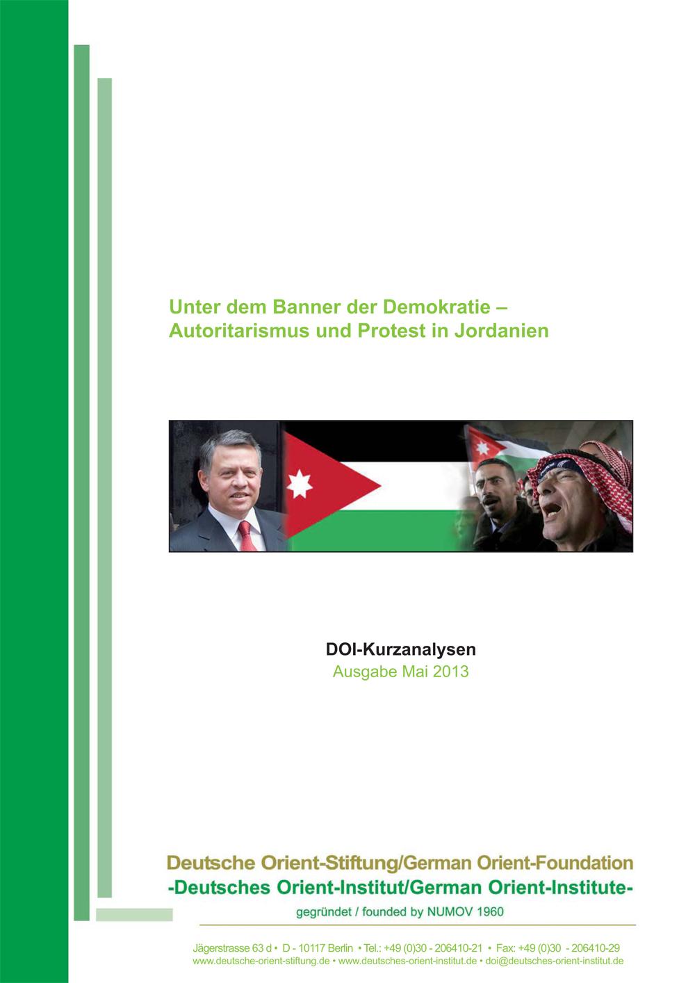 """Featured image for """"Unter dem Banner der Demokratie: Autoritarismus und Protest in Jordanien"""""""