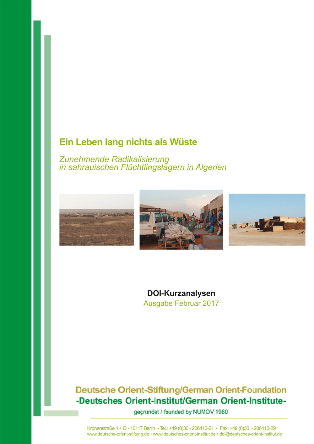 """Featured image for """"Ein Leben lang nichts als Wüste: Zunehmende Radikalisierung in sahrauischen Flüchtlingslagern in Algerien"""""""