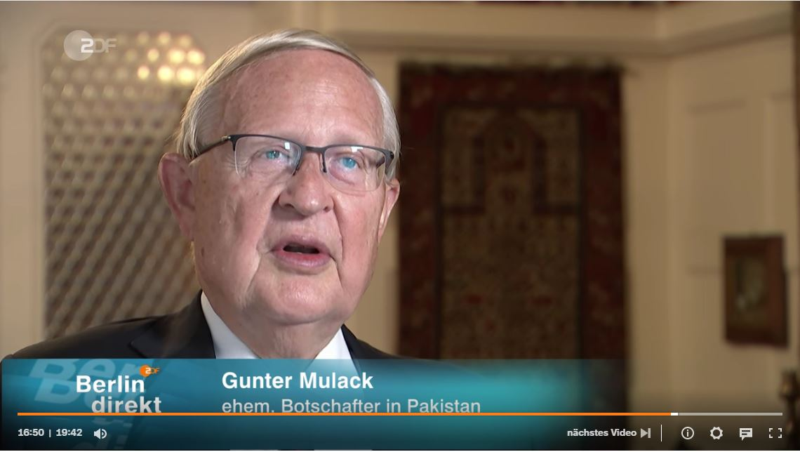 """Featured image for """"Dr. Gunter Mulack, Direktor des Deutschen Orient-Instituts, Berlin direkt vom 12. September 2021 (ZDF) ab Minute 16:45 – Afghanistan: Die Grenzen der Diplomatie"""""""